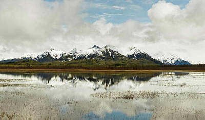 Cold Temperature Photograph - Reflection Of Snowcapped Chugach by Panoramic Images