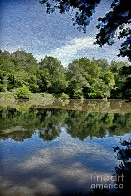 Pennypack Photograph - Reflection Of Summer by Tom Gari Gallery-Three-Photography