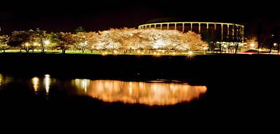 Ou. Ohio University Photograph - Reflection Of Cherry Blossoms by Shirley Tinkham