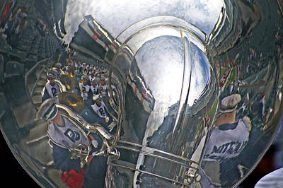 Reflection Of The Marching Band Art Print by Tom Gari Gallery-Three-Photography