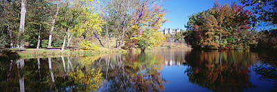 Reflection Of Trees In A Lake, Biltmore Art Print