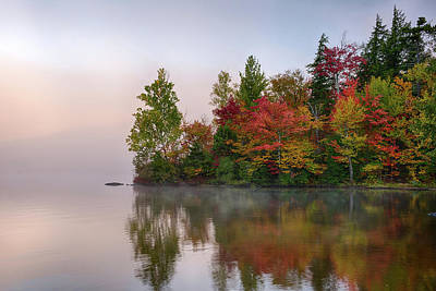 Autumn Scenes Photograph - Reflection Of Trees On Water, Seventh by Panoramic Images