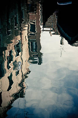 Reflection Of Venice On Grand Canal Italy Art Print