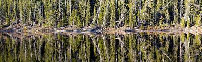 Yellowstone Wall Art - Photograph - Reflection On A Lake In Yellowstone by Twenty Two North Photography