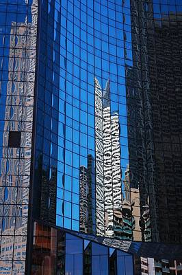 Photograph - Chicago's Buildings Reflection On Glass by Ginger Wakem