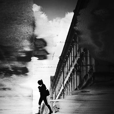 Romania Photograph - Reflection On The Street by Dragoslav S.