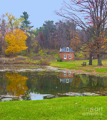 Photograph - Reflection Pond In Fall by Bill Woodstock