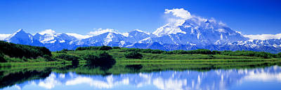 Snow Covered Fields Photograph - Reflection Pond, Mount Mckinley, Denali by Panoramic Images