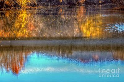 Autumn Peggy Franz Photograph - Reflection With A Ripple  by Peggy Franz