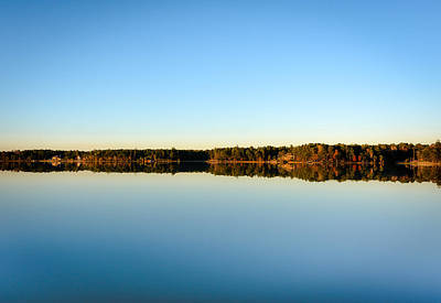 Photograph - Reflection...lake At Sun Down II by Shey Stitt