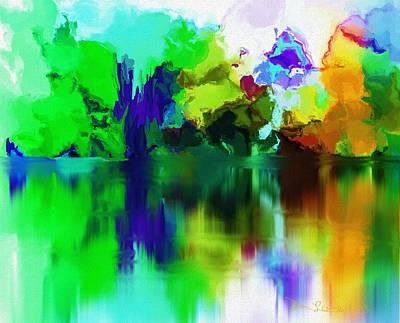 Digital Art - Reflections 012013 by David Lane