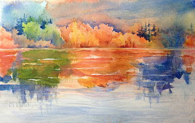 Painting - Reflections 1 Near Boulder by Cynthia Roudebush