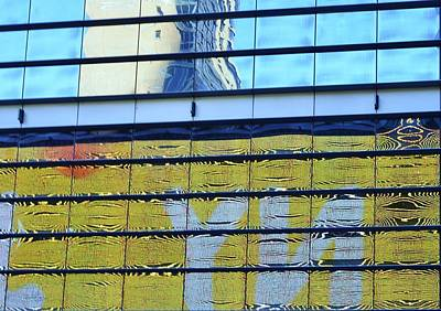 Mosaic Mirrors Photograph -  Building Reflections 3 by Allen Beatty