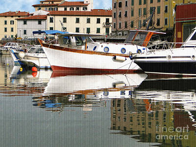 Photograph - Reflections Along The Canal by Sue Melvin