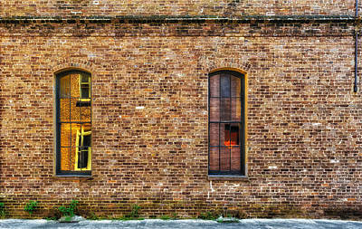 Photograph - Reflections And Brick by Frank J Benz
