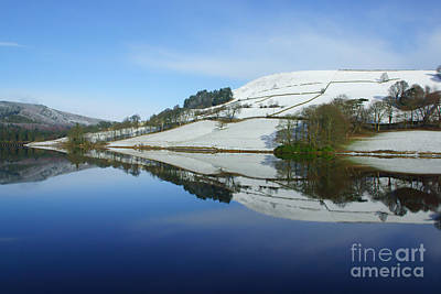 Reflections At Ladybower Art Print by David Birchall