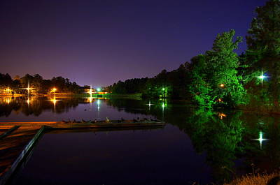 Photograph - Reflections At Lake Midnight  by Walter  Holland