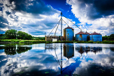 Reflections At The Old Mill Art Print by Randy Scherkenbach