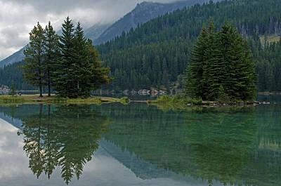 Reflections At Two Jack Lake Art Print