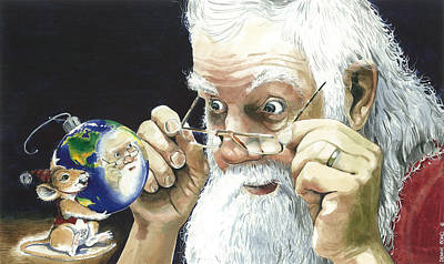 Santa Claus Painting - Reflections by Denny Bond