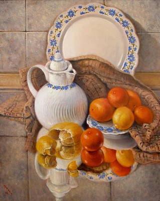 Tangerine Painting - Reflections by Donelli  DiMaria
