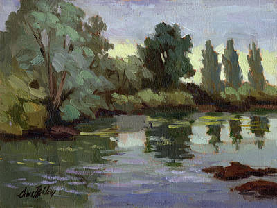 Painting - Reflections Duwamish River by Diane McClary