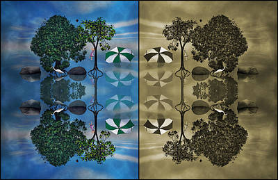 Great Mysteries Digital Art - Reflections by Betsy Knapp