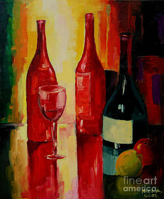 Interior Still Life Painting - Reflections by Mona Edulesco