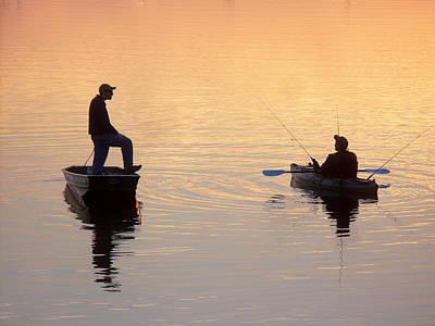 Mixed Media - Reflections Fishermen by Irmari Nacht
