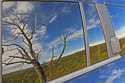 Photograph - Reflections In A Car Window by Dawn Gari