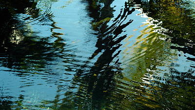 Art Print featuring the photograph Reflections In A Fishpond by Lehua Pekelo-Stearns
