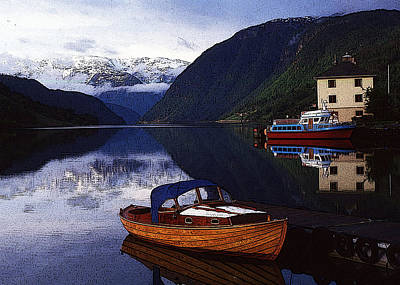 Norway Mixed Media - Reflections In A Fjord by Anthony Dalton