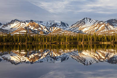 Reflections In Alaska Art Print by Javier Fores