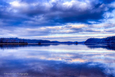 Photograph - Reflections In Blue by Paul Herrmann