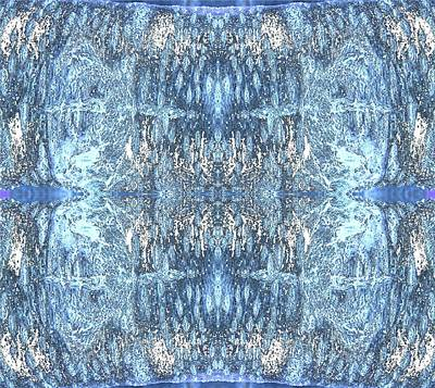 Digital Art - Reflections In Blue by Stephanie Grant