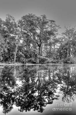 Photograph - Reflections In Bw by Steven Parker