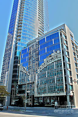 Photograph - Reflections In Hotel Marriott In Downtown Montreal by Nina Silver