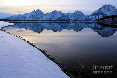 Photograph - Reflections In Jackson Lake by Adam Jewell