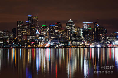 Photograph - Reflections In Seattle by Eddie Yerkish