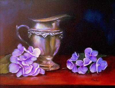 Painting - Reflections In Silver by Anne Barberi