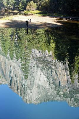 Fir Trees Photograph - Reflections In The Merced River by Ashley Cooper