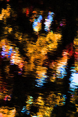 Photograph - Reflections In The Night by Brian Davis