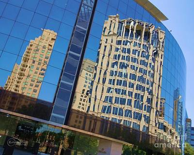 Art Print featuring the photograph Reflections In The Rolex Bldg. by Robert ONeil