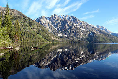 Photograph - Reflections In The South End Of Jenny Lake by George Jones