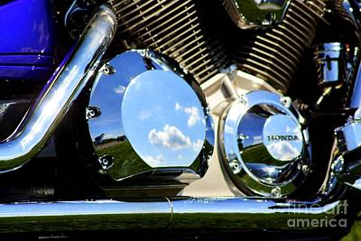 Reflections In The V Twin Art Print by Patti Whitten