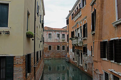 Photograph - Reflections In Venetian Canal by Tony Murtagh