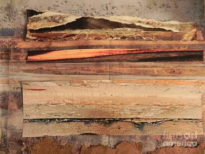 Mixed Media - Reflections In Wood by Patricia  Tierney