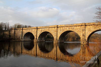 Aqueduct Digital Art - Reflections by Jay Mayne