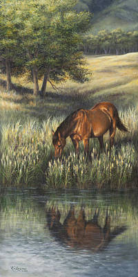 Art Print featuring the painting Reflections by Kim Lockman