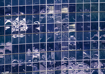 Photograph - Reflections Of A City In Glass 2 by Ronda Broatch